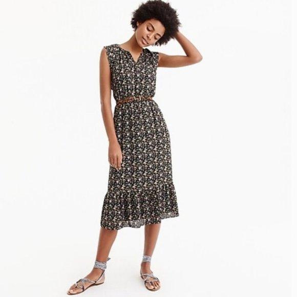 J. Crew Mercantile Floral Midi Dress